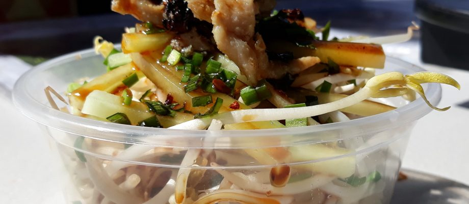 Spicy Cold Summer noodles with Chicken at…